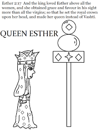 Coloring Page Queen Esther Activity