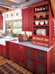 Love The Idea Of Red Cabinets But I Really A Good Bit As An Accent Color In My Kitchen So Might Be Much