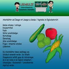 vegetables gemüse englischunterricht klassenarbeiten
