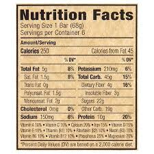 Clif Bars Nutrition Facts Bar Energy Chocolate Chip