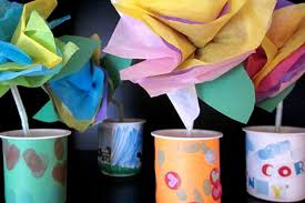 Tissue Paper Flowers Vases