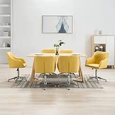 vidaxl 6x esszimmerstuhl drehbar bürostuhl drehstuhl