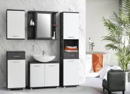 forte ch bad nischenschrank cmpk072 front hochglanz weiß korpus betonoptik dunkelgrau für ihr badezimmer