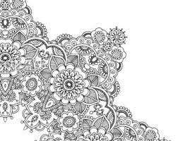 Flower Mandala Coloring Book 30 Pages Printable Pdf Blank