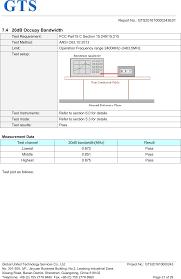 m20 bluetooth speaker test report gts201610000243e01 bt 3 0edr
