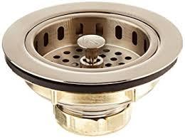 kohler sink strainer brushed nickel keeney k5445dsbn cast brass drop post sink strainer basket