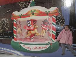 Ebay Christmas Trees 6ft by Huge 8 Foot Tall Holiday Inflatable Christmas Carousel Rotating