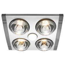 heller 4 x 275w led silver mason 3in1 bathroom heater bunnings