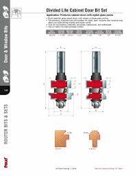 freud 99 270 divided light cabinet door router bit set 1 2 shank