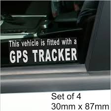 100 Mini Truck Stickers 4 X Fitted With A GPS Tracker Security WINDOW For Car Van