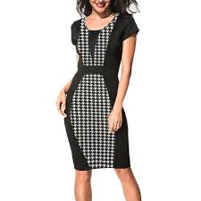 online get cheap houndstooth sheath dress aliexpress com