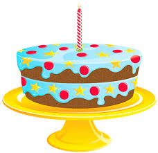 Blue Birthday Cake PNG Clipart