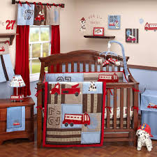 Firefighter Fire Truck Crib Bedding Nursery Decor | Baby Boy Room ...