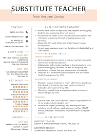 Substitute Teacher Resume Samples & Writing Guide | Resume Genius ... Substitute Teacher Resume Samples Templates Visualcv Guide With A Sample 20 Examples Covetter Template Word Teachers Teaching Cover Lovely For Childcare Skills At Allbusinsmplates Example For Korean New Tutor 40 Fresh Elementary Professional Fine Artist Math Objective Format Unique English 32 Ideas All About