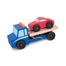 """Buy Flatbed Tow Truck Wooden Toy Set Online In Dubai & UAE 