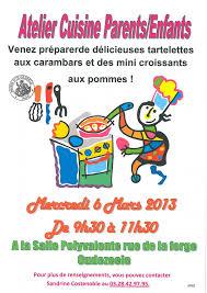 atelier cuisine enfants atelier cuisine parents enfants mercredi prochain mairie d oudezeele