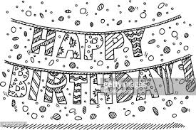 happy birthday garland letter drawing vector id