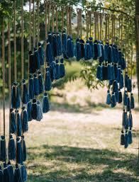 Rustic French Wedding Tassel Backdrop