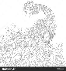 Adult Anti Stress Coloring Page Black And White Hand Drawn Doodle For Book Stock Vector Illustration 377144212 Shutterstock