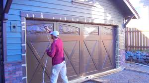 Titan Garages And Sheds by How To Professionally Spray A Garage Door And The Best Way To Mask