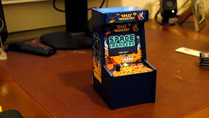 gba based miniature space invaders arcade cabinet mikeshouts