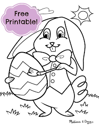 Easter Bunny Coloring Page Tip Grab Some Cotton Balls And Glue To Create A
