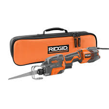 RIDGID THRU COOL 6 Amp 1 Handed Orbital Reciprocating Saw Kit