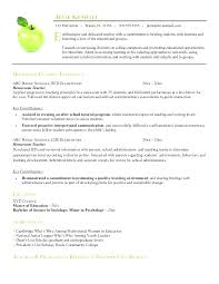 Special Education Teacher Resume Examples 2013 Sample For Resumes Teachers Beautiful Example