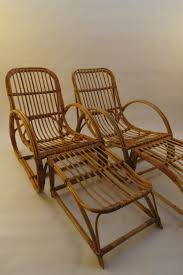 Antiques Atlas - Pair 1960s Cane Lounge Chair & Stool Dryad ...
