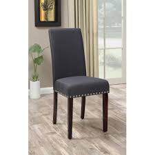 dhi nice nail head upholstered dining chair set of 2 walmart com