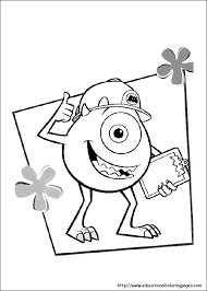 Mike Wazowski Bring A Note Coloring Pages For Kids Printable Monsters Inc