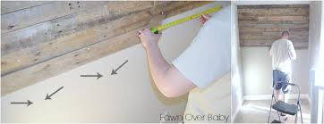 If You Are Blessed With A Handy Helper While Your Pallet Boards Going Up Mix White Wash Paint Mixture