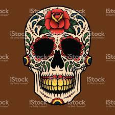Easy Sugar Skull Day Of by Day Of The Dead Sugar Skull Icon Calavera Stock Vector Art