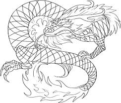Realistic Dragon Coloring Pages For Adults