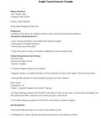 51 Teacher Resume Templates Free Sample Example Format Download Objective Examples 10 Education