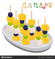 berry canapes vector illustration logo for ripe colorful canapes with berry olives