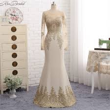 popular gold long sleeve sequin evening gown buy cheap gold long