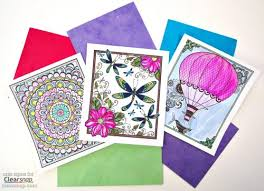 Watercolor Postcard Coloring Pages