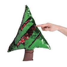 IN 13779089 Plush Reversible Sequin Christmas Tree