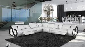 canape blanc noir canapé d angle xl en similicuir avec éclairage nesta mobilier moss