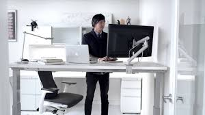 Humanscale Float Standing Desk by Renew Sit To Stand Tables Youtube