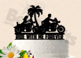 Image Is Loading Motorcycle Couple Ride With Me Forever Tropical Wedding