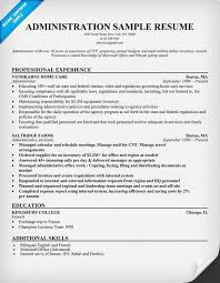 Sample Cover Letter Administrative Officer Resume