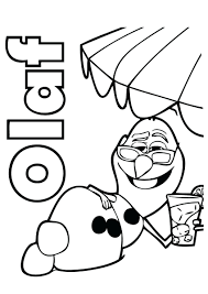 Coloring Pages Kids Drawing Printable Frozen Olaf Free Elsa Valentine Full Size