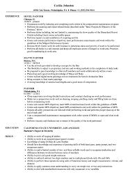 Download Painter Resume Sample As Image File