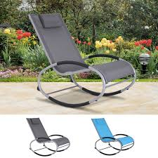 Details About Outsunny Lightweight Zero Gravity Portable Rocking Reclining  Chaise Lounger