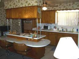 60s Style Kitchen Cabinet With Metal Poles
