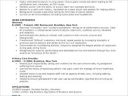 Resume Sample For Cna Good Examples Objective Table Nursing