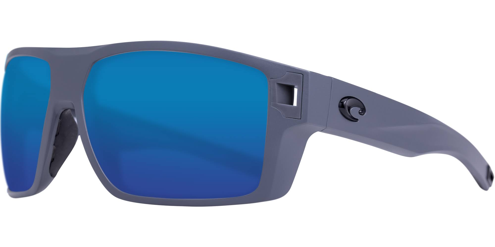 Costa Diego 580G Polarized Sunglasses Matte Gray/Blue Mirror, One Size