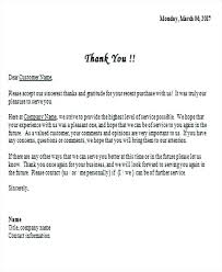 Thank You Business Letter To Customer Gallery Letter Examples Ideas